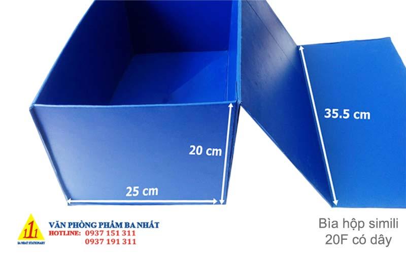 bìa hộp, bìa hộp simili, bìa hộp simili 20F, bìa hộp simili 20F có dây