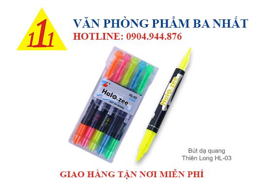 bút dạ quang, bút highlight, bút dạ quang thiên long, bút dạ quang TL HL-03