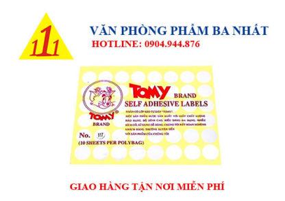 Nhãn Tomy A5 (Số Từ 99 - 124)