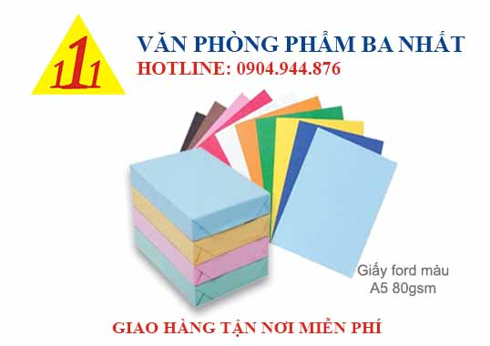 giấy ford, giấy for, giấy ford màu a5 70, giấy ford a5 70gsm