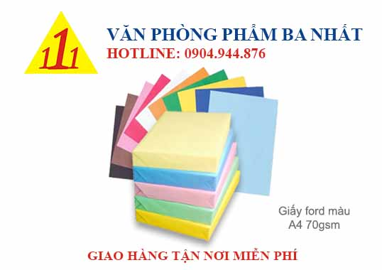 giấy ford, giấy for, giấy ford màu a4 70, giấy ford a4 70gsm