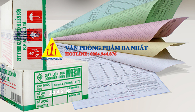 giấy in liên tục 240x279 nhiều liên, giấy liên tục 240x279 2 3 4 5 liên, nơi bán giấy in liên tục 240x279, giá giấy liên tục 240mm 2 3 4 5 liên, giấy liên tục liên sơn 240x279
