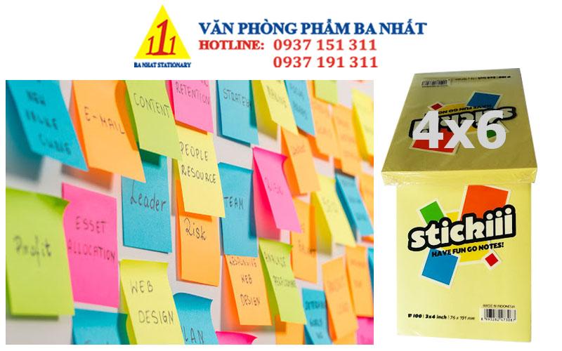 giấy note, giấy note màu, giấy note 4x6, bộ giấy note dán, giấy note loại 4x6, giấy note giá sỉ, giấy ghi chú 4x6