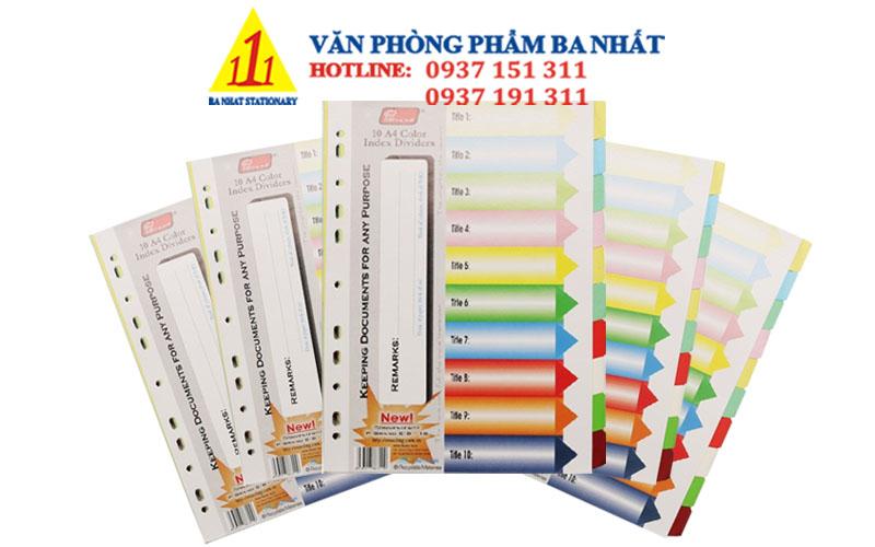 phân trang giấy giá rẻ, phân trang giấy 10 số, giấy phân trang đẹp, giấy phân trang 10 màu, bìa phân trang giấy 10 số, giấy màu phân trang, bìa phân trang 10 số giấy