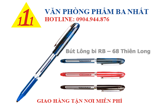 Bút Lông bi, bút bi lông, Bút Lông bi RB-68 Thiên Long, viết lông bi RB-68, RB-68