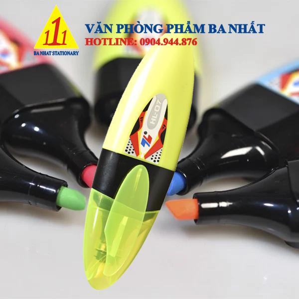 bút dạ quang Thiên Long, bút dạ quang HL- 07 nhiều màu, bút dạ quang 2 đầu, bút màu dạ quang HL07, bút dạ quang HL 07, bộ bút dạ quang, mua viết dạ quang Hl-07, bút dạ quang nhỏ