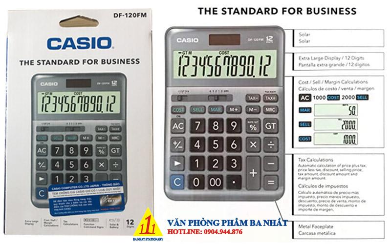 casio, CASIO DF 120 FM, máy tính Casio DF 120 FM, máy tính kế toán Casio DF 120 FM, máy tính cá nhân Casio DF 120 FM, máy tính tính tiền Casio DF 120 FM, máy tính Casio DF 120 FM tem bitex, máy tính Casio DF 120 FM chính hãng