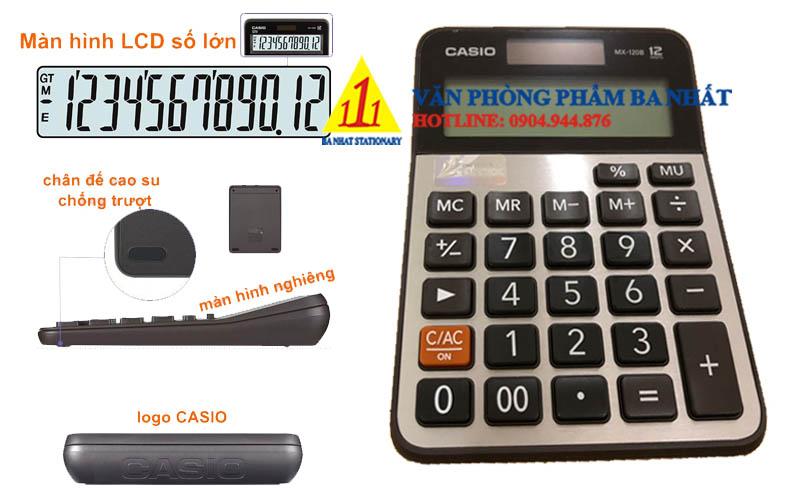 casio, CASIO MX-120B, máy tính Casio MX-120B, máy tính kế toán Casio MX-120B, máy tính cá nhân Casio MX-120B, máy tính tính tiền Casio MX-120B, máy tính Casio MX-120B tem bitex, máy tính Casio MX-120B chính hãng