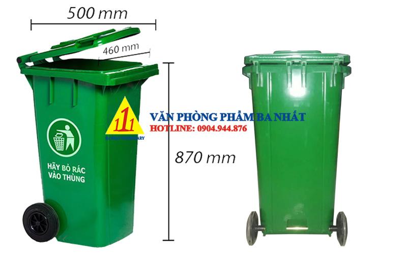 thùng rác nhựa 120 lít, thùng rác có nắp, Thùng rác lớn 120L nắp đậy, thùng đựng rác nắp đậy 120l, thùng rác nhựa 120l có bánh xe, thùng rác loại lớn có bánh xe, thùng rác nắp đậy công cộng, thùng rác công cộng 120L