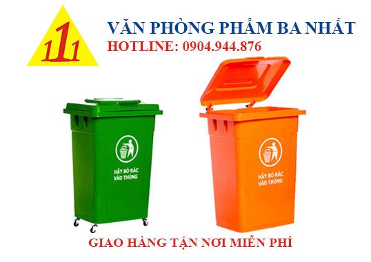 thùng rác nhựa 90 lít, thùng rác nắp kín, Thùng rác lớn 90L nắp đậy, thùng đựng rác nắp đậy 90l, thùng rác nhựa 90l có bánh xe, thùng rác loại lớn có bánh xe, thùng rác nắp kín công cộng, thùng rác công cộng 90L