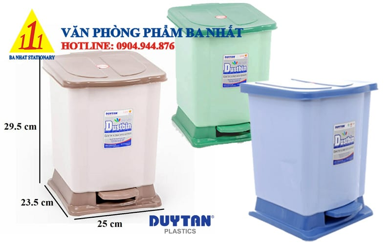 thùng rác duy tân, thùng rác đạp nhỏ Duy tân, Thùng rác đạp chân Duy Tân, thùng rác Duy Tân No.741, thùng rác cỡ nhỏ, thùng rác nhỏ, thùng rác nhựa đạp chân