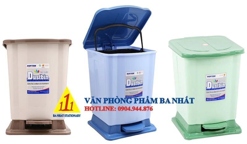 thùng rác duy tân, thùng rác đạp trung Duy Tân, thùng rác đạp chân Duy Tân, thùng rác Duy Tân No.740, thùng rác cỡ trung, thùng rác vừa, thùng rác nhựa đạp chân