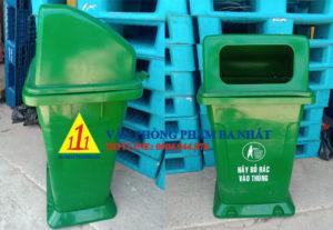 thùng rác nhựa 95 lít, thùng rác nắp hở, Thùng rác lớn 95L nắp hỡ, thùng đựng rác nắp hở 95l, thùng rác nhựa 95l có đế, thùng rác loại lớn không đế, thùng rác nắp hở công cộng