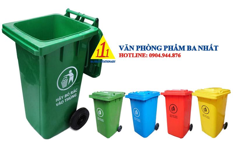 thùng rác nhựa 240 lít, thùng rác nắp kín cỡ lớn, Thùng rác đại 240L nắp đậy, thùng đựng rác nắp đậy 240l, thùng rác nhựa 240l có bánh xe, thùng rác loại lớn có bánh xe, thùng rác nắp kín công cộng, thùng rác công cộng 240L