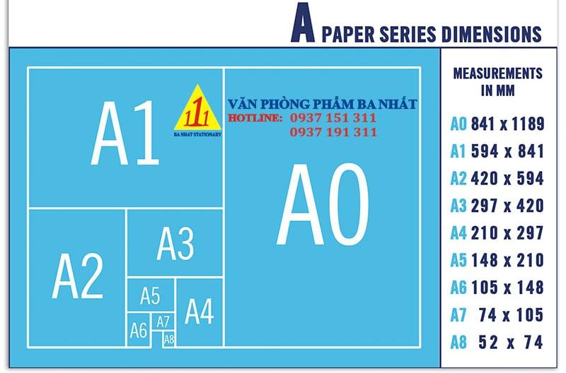 khổ giấy a4, kích thước giấy a4, kích thước khổ giấy a4