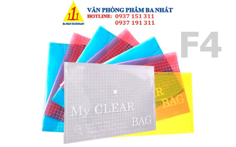 bìa nút màu, bìa sơ mi, bìa nút f4 màu, bìa clear, bìa sơ mi nhựa, my clear bag, bìa sơ mi nút, bìa nút f4 my clear màu, giá bìa nút f4 màu