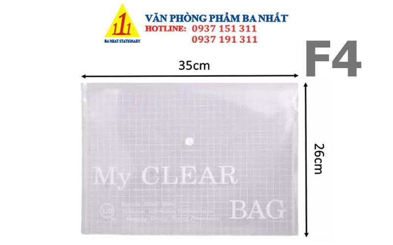 bìa nút, bìa sơ mi, bìa nút f4, bìa clear, bìa sơ mi nhựa, my clear bag, bìa sơ mi nút, bìa nút f4 my clear, giá bìa nút f4