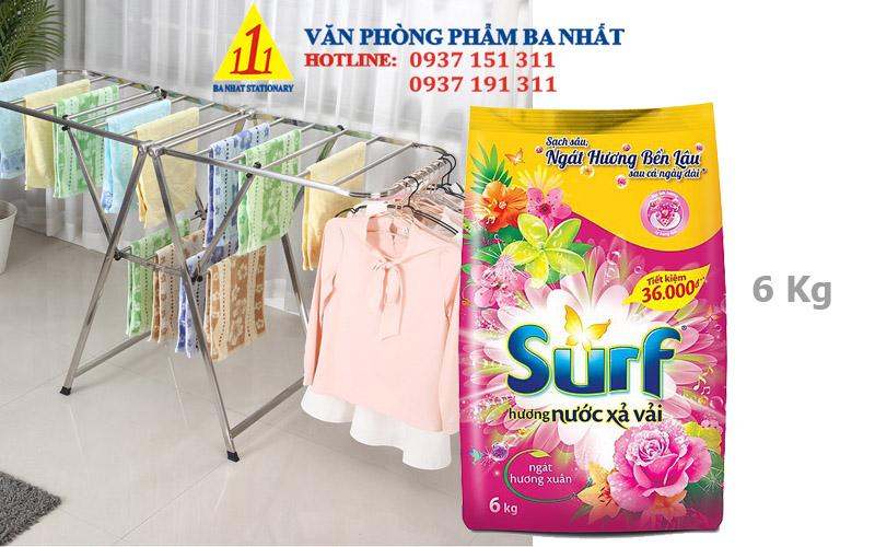 bột giặt, giá bột giặt surf, bột giặt surf 6kg, bột giặt surf, các loại bột giặt surf, xà bông giặt đồ surf 6kg, xà bông giặt đồ