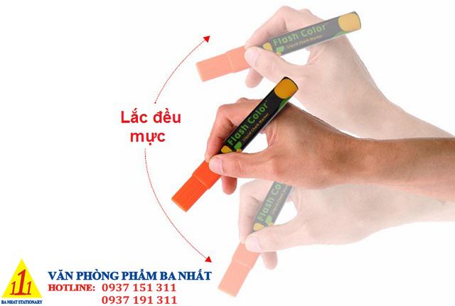 cách khắc phục bút dạ quang không đều mực