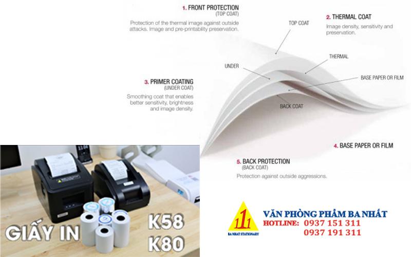 cấu tạo giấy in nhiệt, thành phần giấy in bill