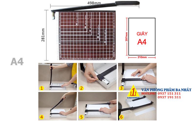 bàn cắt giấy, bàn cắt giấy A4