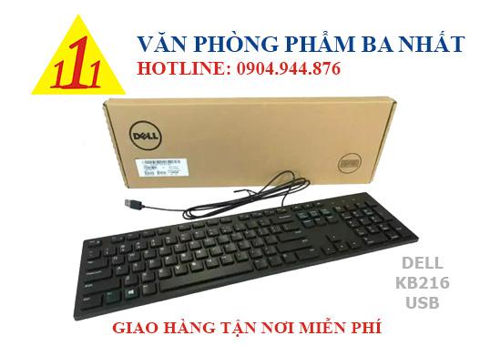 bàn phím máy tính, bàn phím giá rẻ, bàn phím có dây Dell KB-216
