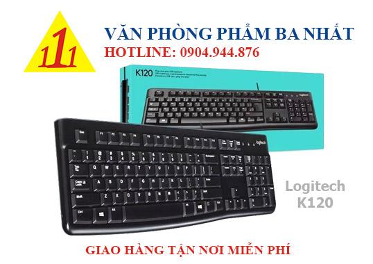 bàn phím máy tính, bàn phím giá rẻ, bàn phím có dây logitech k120