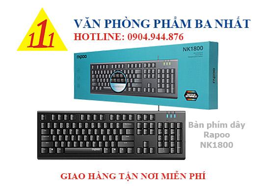 bàn phím máy tính, bàn phím giá rẻ, bàn phím có dây rapoo NK1800