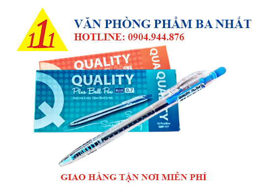 Bút Quality Plus ball pen 0.7mm, bút bi quality, bút bi 0.7 mm