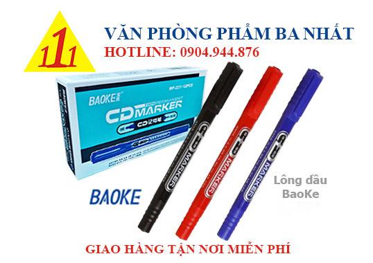 Baoke mp211, bút lông dầu 2 đầu nhỏ, bút lông dầu Baoke MP211