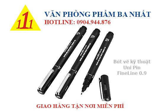 Bút vẽ nét 0.9 mm, bút vẽ kỹ thuật, Bút vẽ uni pin fineline 0.9mm