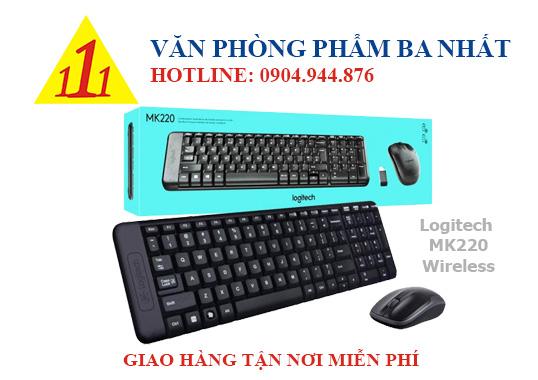 Bàn phím chuột không dây Logitech MK220, combo bàn phím chuột không dây, Logitech MK220