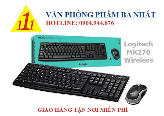 Bàn phím chuột Logitech không dây MK270
