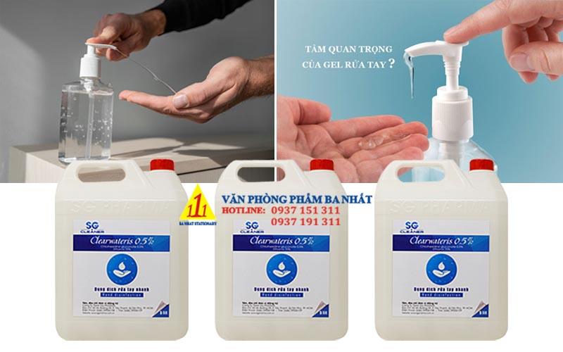 gel rửa tay khô clearwateris, clearwateris bình lớn 5 lít, gel rửa tay clearwateris 5L