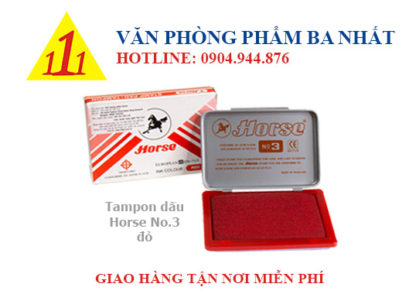 tampon mực dấu HORSE no3, tampon dấu horse no.3