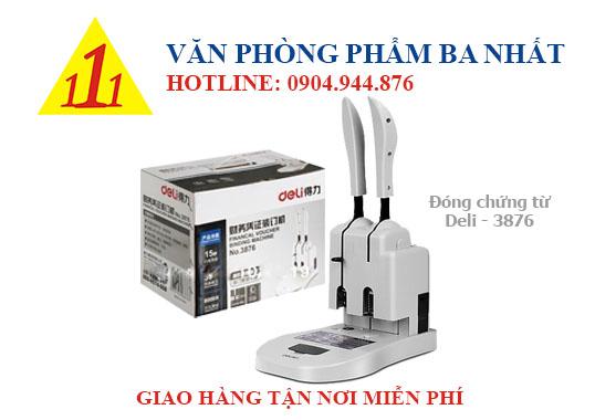 máy đóng chứng từ, máy khoan chứng từ, máy khoan đóng chứng từ DELI 3876