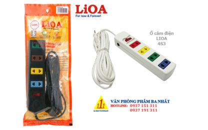 ổ cắm điện 4 lỗ, ổ cắm điện nối dài, ổ cắm điện lioa 4S3