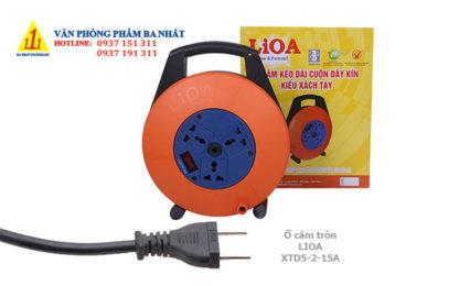 ổ cắm điện tròn xách tay, ổ cắm điện nối dài, ổ cắm điện lioa XTD5-2-15A