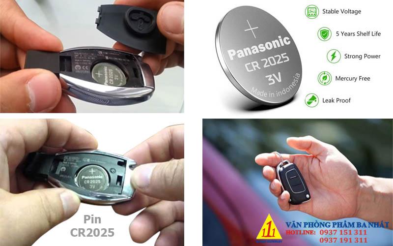 pin chìa khóa ô tô, pin remote cửa, pin CR2025