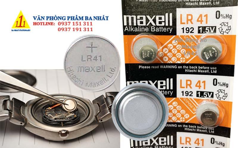 pin đồng hồ, pin LR41, pin đồng hồ đeo tay, pin LR41 maxell