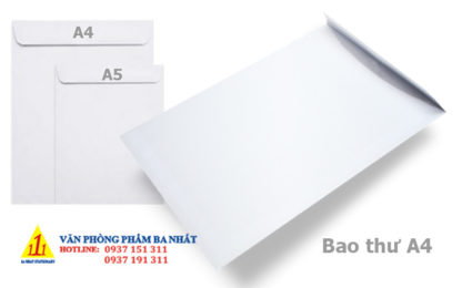 bao thư A4 trắng, bao thư trắng A4