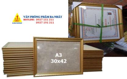 khung giấy khen, khung bằng khen A3