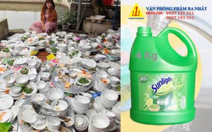 xà bông rửa chén, nước rửa chén sunlight, nước rửa chén sunlight 4kg