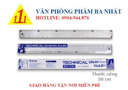 thước kỹ thuật Thiên long SR026, thước cứng 50cm, thước thiên long 50cm