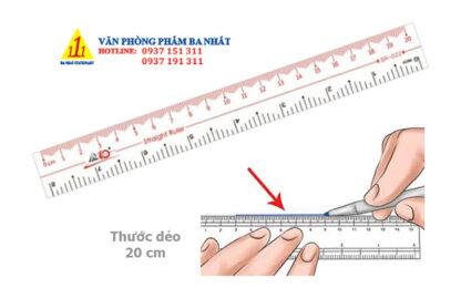 thước thẳng, thước 20cm, thước thiên long 20cm