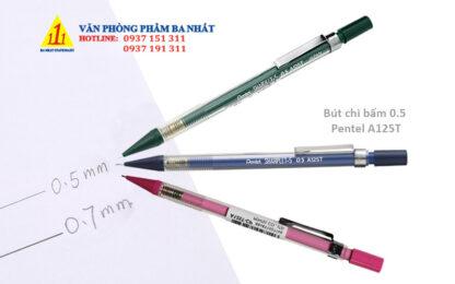 bút chì bấm, bút chì ngòi, bút chì bấm pentel, bút chì bấm pentel A125T