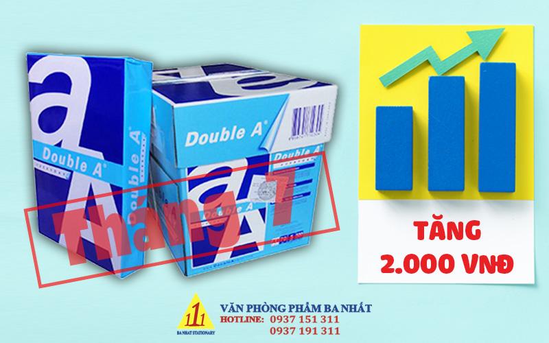 giấy double a tăng giá, giá giấy double a